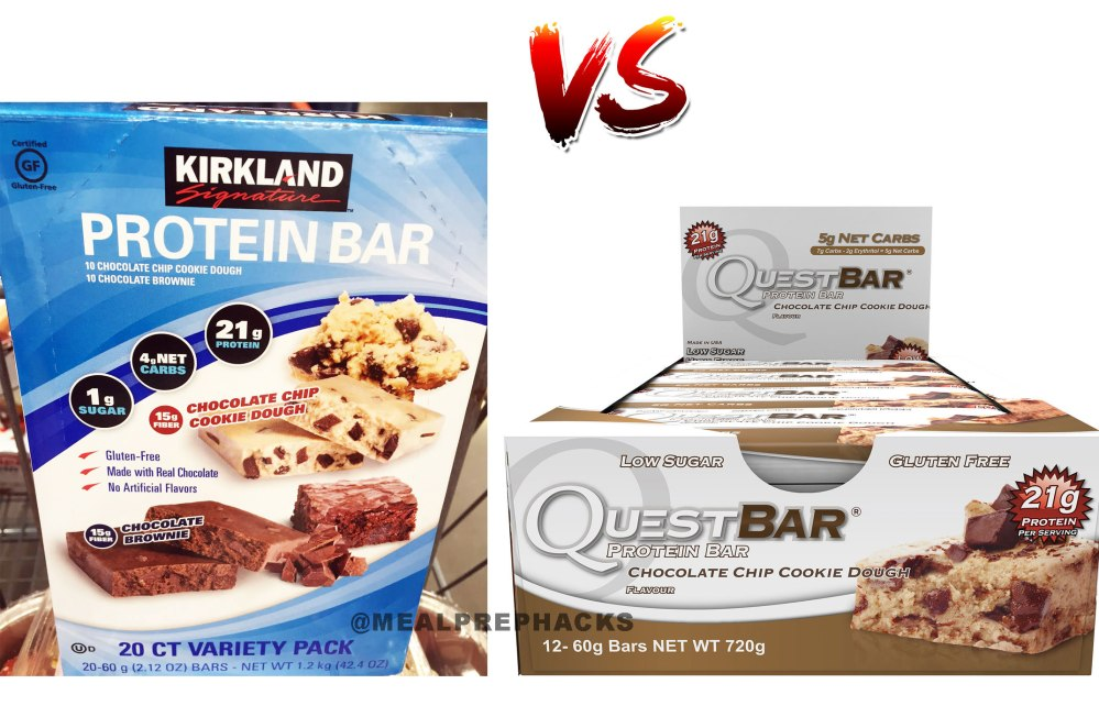 NEW at Costco  Kirkland Signature Protein Bars. Costco Protein Bar vs Quest Bar   Meal Prep Hacks